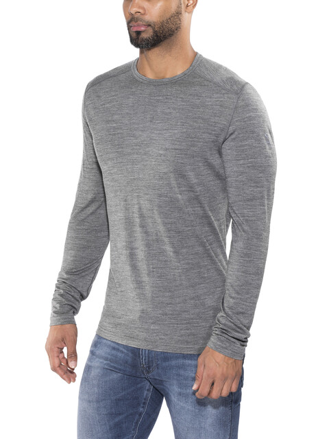 Icebreaker M's Oasis LS Crewe Shirt gritstone hthr